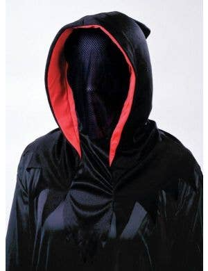 See-Through Hooded Black Halloween Costume Mask