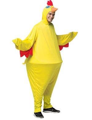 Chicken Hoopster Novelty Men's Fancy Dress Costume