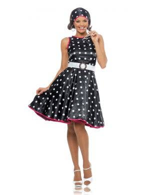 Plus Size Women's 1950's Polka Dot Costume Dress Front