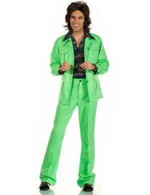 70's Deluxe Retro Leisure Suit Costume in Green