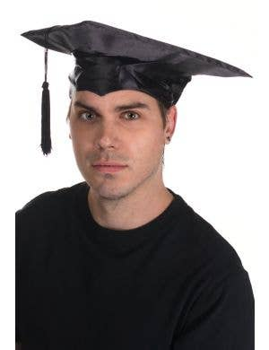 Black Student Graduation Mortor Board Hat Costume Accessory Main Image