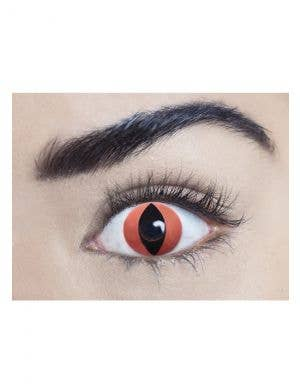 Devil Red Single Wear Disposable Halloween Contact Lenses