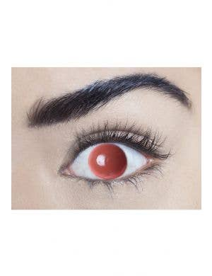 Blind Eye Red Single Wear Disposable Halloween Contact Lenses