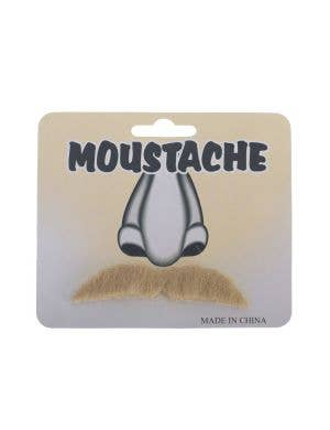 Blonde Medium Straight Self Adhesive Novelty Costume Moustache