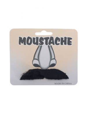 Black Medium Straight Self Adhesive Novelty Costume Moustache