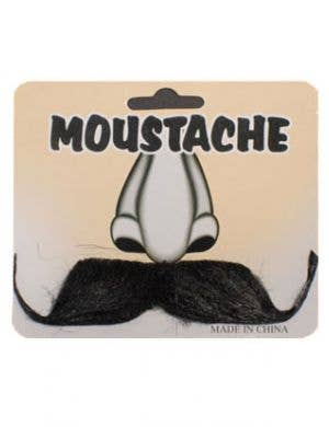 Gentleman Black Stick On Moustache Costume Accessory