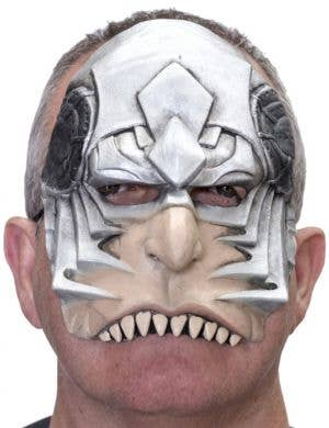 Cyborg Half Face Latex Costume Mask
