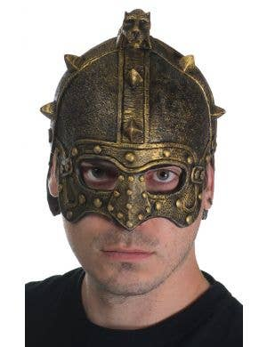 Antique Bronze Latex Gladiator Costume Helmet