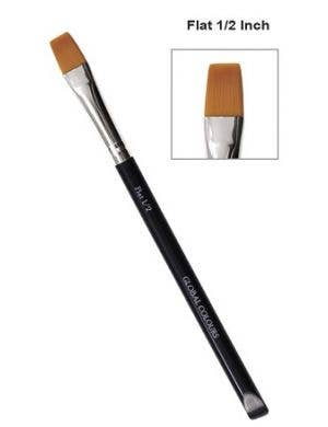 Square Flat 1/2 Inch Special Effects Body Art and Face Paint Makeup Brush