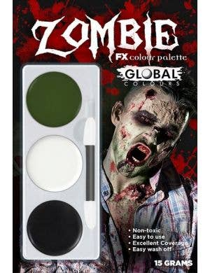 Zombie Halloween Special Effects Face Paint Makeup Kit in 3 Colours