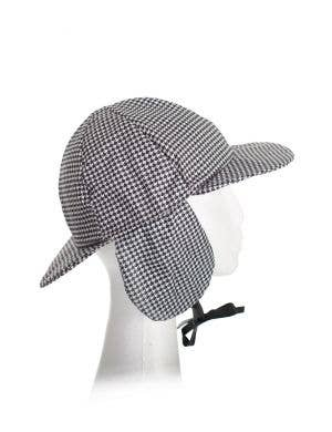 Adult's Black and White Houndstooth Detective Costume hat