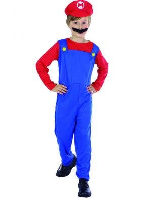 Kids Super Mario Brothers Mario Fancy Dress Costume