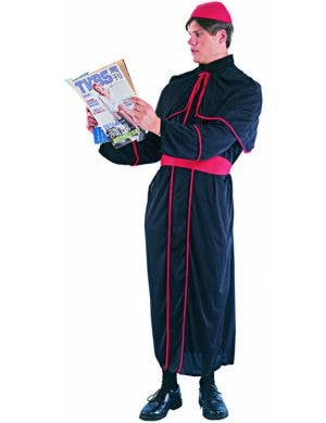 Men's Catholic Cardinal Religious Fancy Dress Costume Front