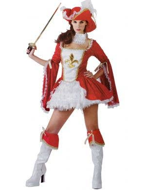 Red Sexy Women's Musketeer Costume