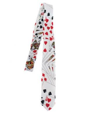 Casino Themed Poker Cards Neck Tie Costume Accessory