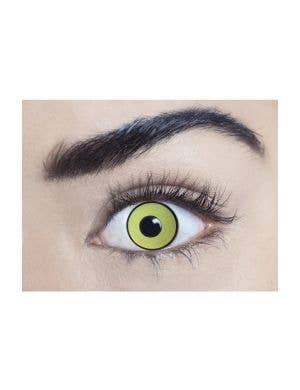 Mal Chick Yellow UV Reactive 90 Day Wear Contact Lenses