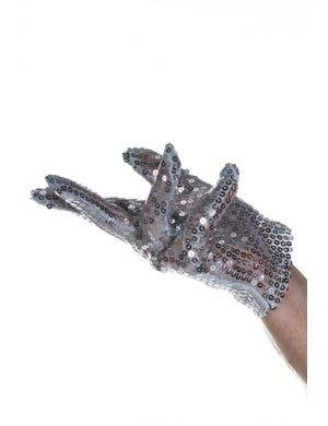 Michael Jackson Silver Sequined Costume Gloves for Men