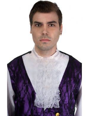 White Lace Cravat Adult's Fancy Dress Costume Accessory Main Image