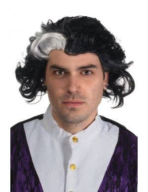 Black and White Sweeney Todd Men's Wig