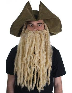 Pirate Davy Jones Hat with Wig and Beard