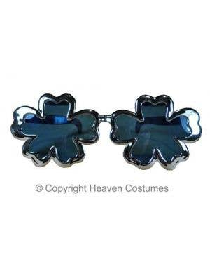 Novelty Flower Costume Glasses With Blue Lenses
