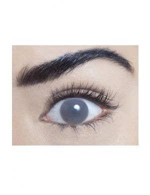 Blind Grey Halloween Contact Lenses Single Wear