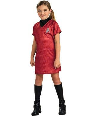 Girls Uhura Red Command Uniform Front View