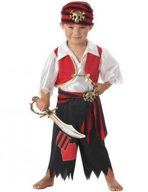 Toddler Boys Pirate Fancy Dress Costume Main Image