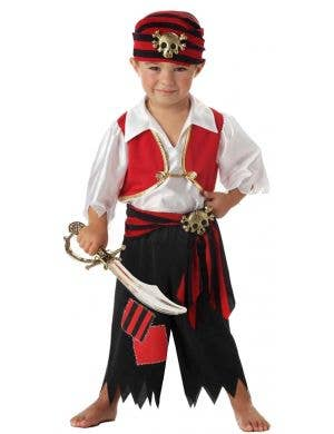 Toddler Boys Pirate Fancy Dress Costume Main Image