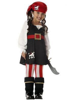 Precious Lil' Pirate Toddler Girls Book Week Costume Front View