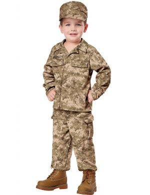 Toddler Military Soldier Fancy Dress Costume Front View