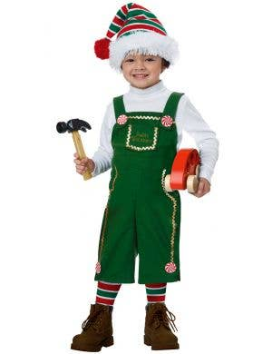 Jolly Lil' Green Elf Toddler Kid's Christmas Costume