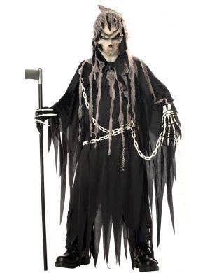 Mr Grim Deluxe Boys Grim Reaper Halloween Costume