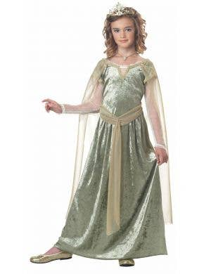 Girls Renaissance Queen Medieval Costume Front View