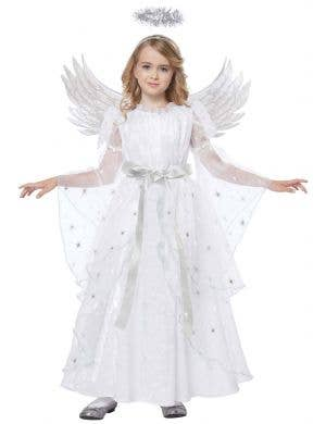 Starlight Angel Girls Christmas Fancy Dress Costume