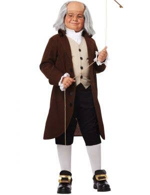 Olden Days Colonial Man Boys Fancy Dress Costume
