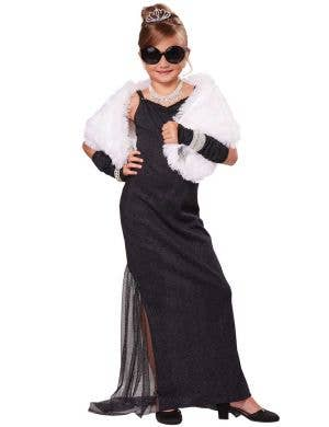 Girls Hollywood Movie Star Fancy Dress Costume Front View