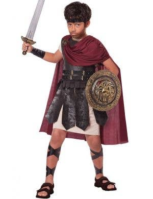 Boys Gladiator Fancy Dress Costume Front View