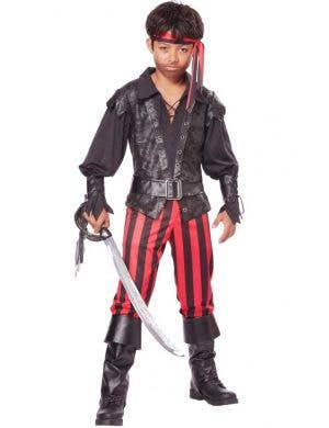 Buccaneer Pirate Boy's Fancy Dress Costume Front View