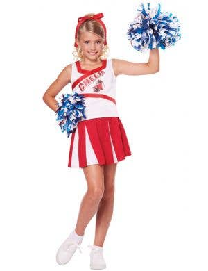 Girl's High School Cheerleader Costume Uniform Front View