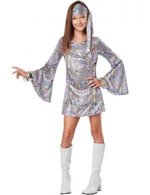 Girls 1960's Go Go Dancer Costume Front View