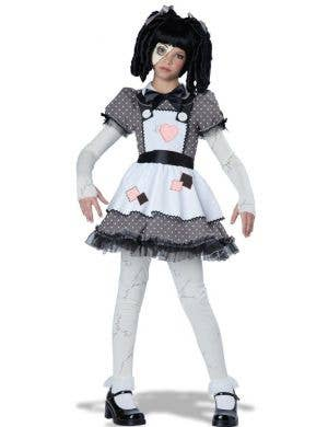 Haunted Doll Girls Halloween Fancy Dress Costume