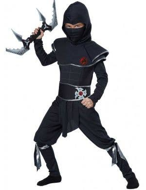 Japanese Ninja Warrior Fancy Dress Costume Front View