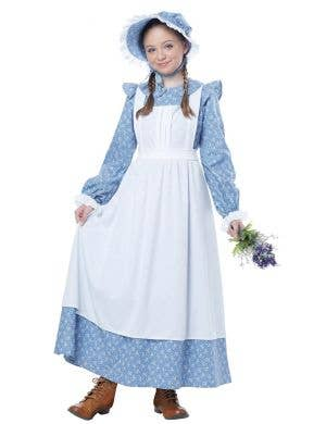 Pioneer Girls Early Settler Olden Days Book Week Costume Front View