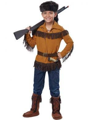 Wild West Frontiersman Boys Costume Front View