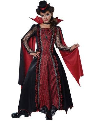Victorian Vampira Girls Halloween Costume