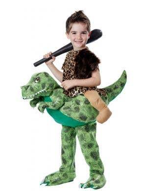 Dino Rider Toddler Boys Funny Caveman Costume