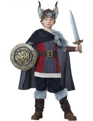 Boys Venturous Viking Book Week Fancy Dress Costume Front View