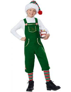 Toymaker Elf Boy's Green Christmas Costume