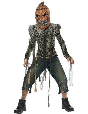 Pumpkin Creature Boys Halloween Costume